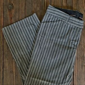 Express Pants - (LIKE NEW) Express | Editor Cropped Striped Pants